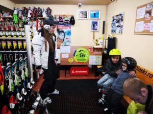 Ski rental equipment at Poiana Brasov